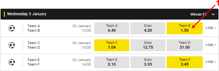 Support lets say you decide to bet on the combined victories of team b team c and team f stopboris Image collections